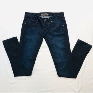Frankie B Slim Leg Bow Pocket Dark Wash Jeans 26